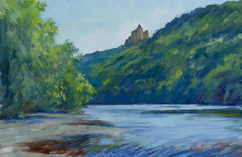 Castelnaud la Chapelle from the River Banks of Dordogne