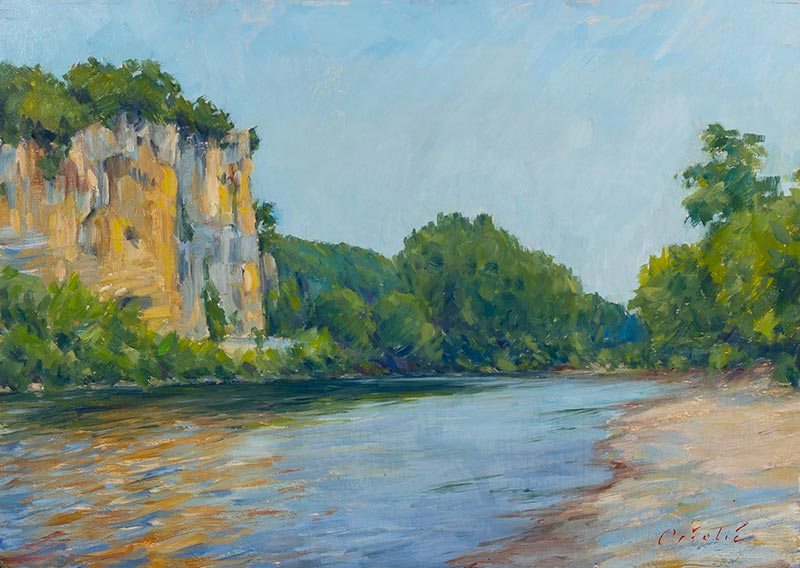 Cliffs on the Dordogne - Virac
