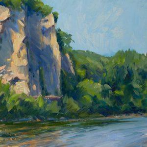 Dordogne Cliffs at Sunset