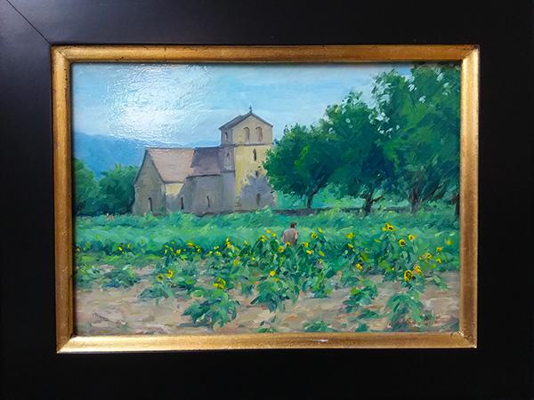 Farmer by the church in Vezac