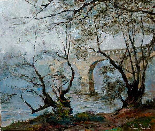 Brouillard sur la Dordogne